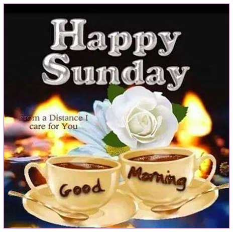 Happy Sunday good morning images Tea