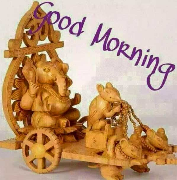 good morning images ganpati Ganesha