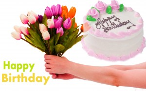 Top happy birthday image Photo Pictures Pics HD with cake