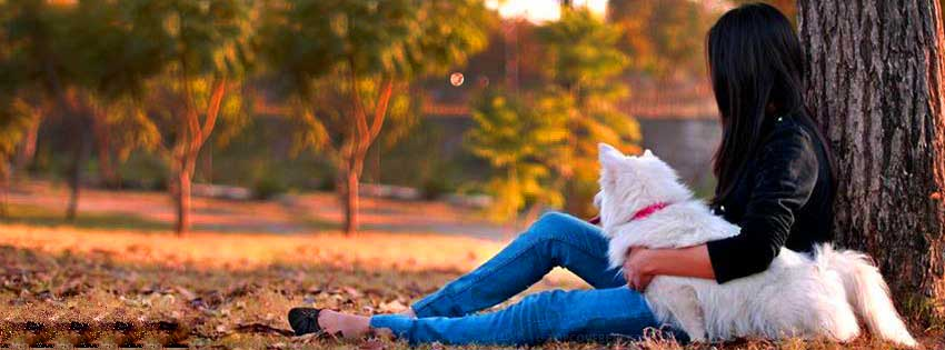 girl-with-dog-facebook-wallpaper