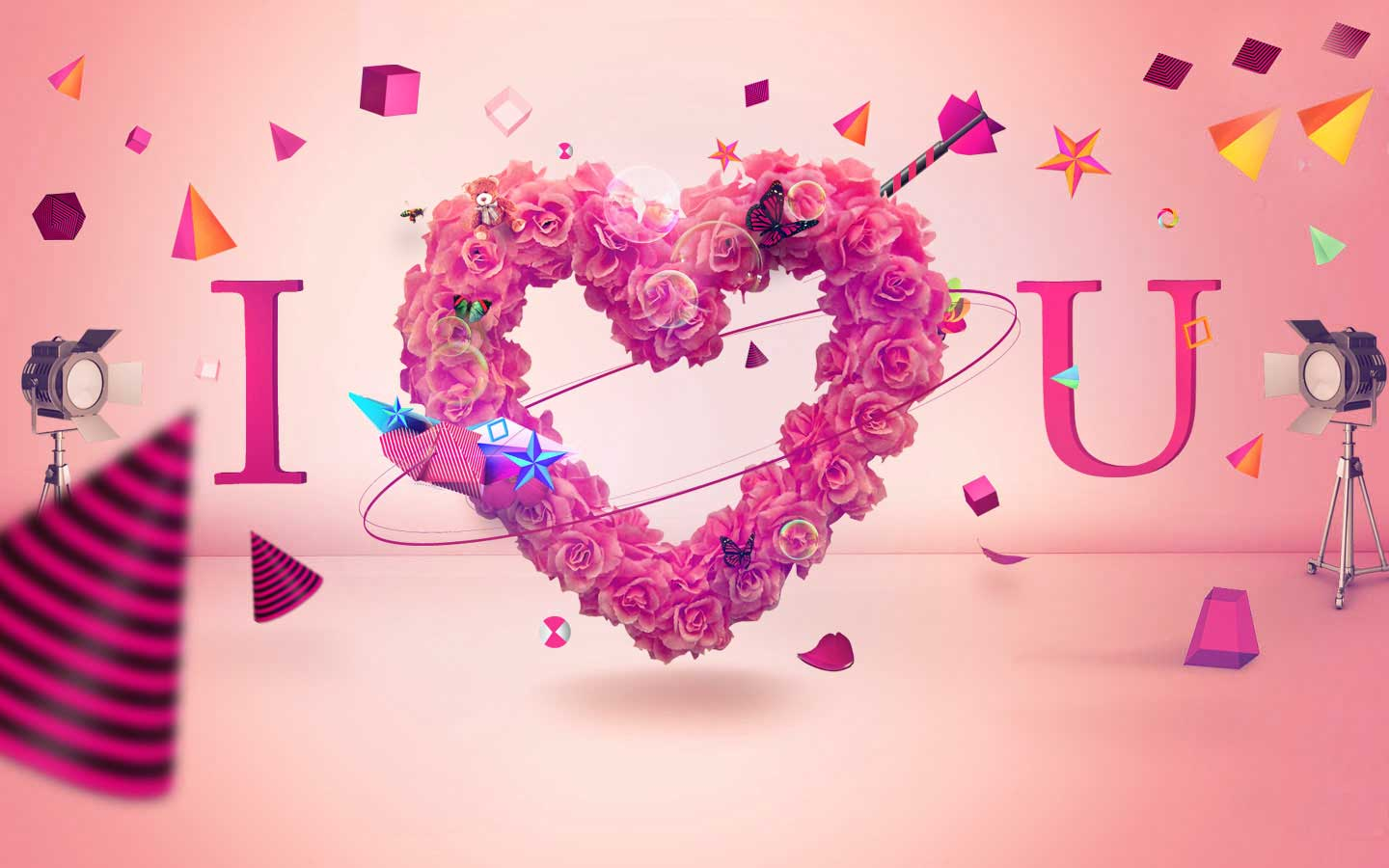 HD free i love you wallpapers