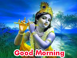 good morning images with god krishna