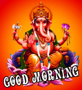 Lord ganesha good morning images Pictures Pics Download for Facebook