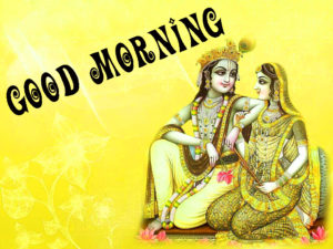 Religious Hindu god good morning images Wallpaper With Radha Krishna