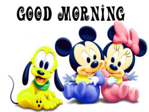 Good Morning Wishes Images Photo with Mickey for Facebook