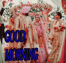 Good Morning Images for Romantic Love Couple With New Marriage Couple